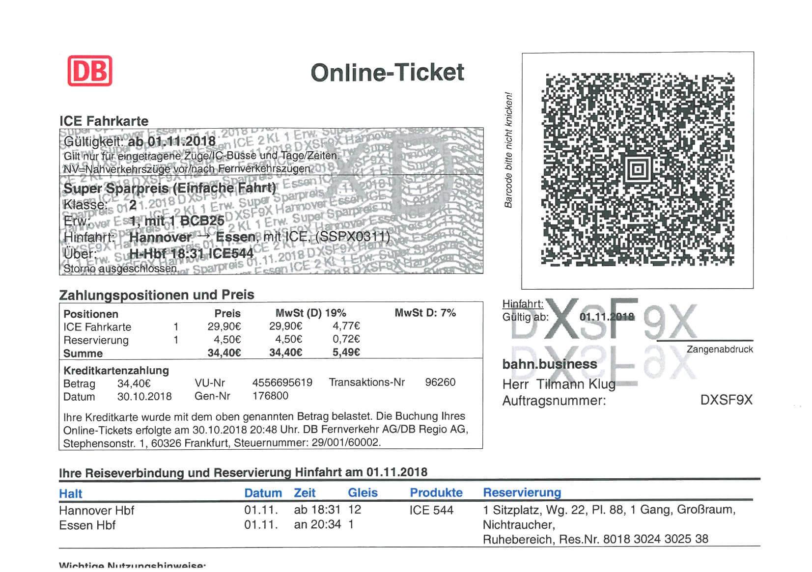 online tickets deutsche bahn vorsteuerabzug bedenbecker berg steuerberatung. Black Bedroom Furniture Sets. Home Design Ideas